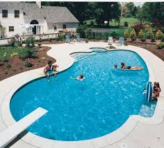 Best Awesome Inground Pool Designs Images On Pinterest - Backyard pool designs ideas
