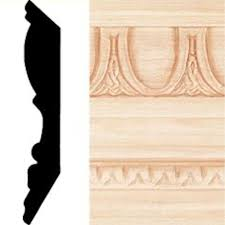 decorative crown moulding home depot 13 16 in x 4 1 2 in x 8 ft hardwood emboss crown moulding 58808