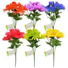 gerbera daisies bulk floral garden 6 stem gerbera bushes 13in at