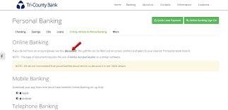 tri county bank online banking login cc bank