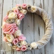 felt flower wreath sizzix tutorial michelle u0027s party plan it
