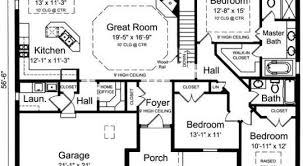 43 1 level home plans ranch house plan first floor 058d 0175