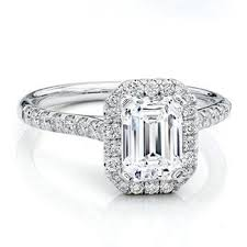 engagement rings emerald cut diamond engagement ring halo emerald cut solitaire from di
