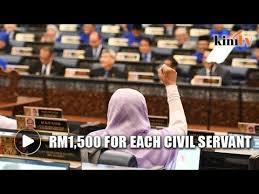 najib rm1 500 bonus for each civil servant in 2018 youtube