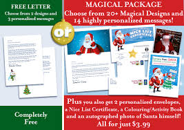 official letters from santa easy free letters from santa claus to children