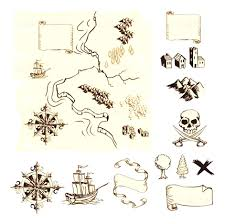 Make Your Own Map Treasure Map Symbols Clipart Cruise Decorations On Pinterest