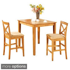 Kitchen Bistro Table And 2 Chairs with Oak Pub Table And 2 Kitchen Counter Chairs 3 Piece Dining Set