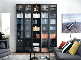 Tall Billy Bookcase Bookcase Tall Black Bookcase With Doors 5 Shelf Bookcase Black