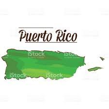 Map Puerto Rico Isolated Puerto Rico Map Stock Vector Art 646231624 Istock