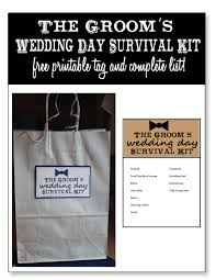 wedding gift kits wedding day survival kits for the and groom