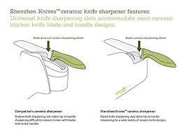 sharpening ceramic kitchen knives amazon com electric knife sharpener for ceramic knives
