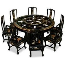 In Rosewood Round Dining Table With  Chairs Chinese Longevity - 60 inch round dining table with lazy susan