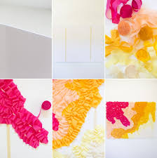 Diy Photo Backdrop Diy Ombre Ruffled Crepe Paper Photo Backdrop Lovely Indeed