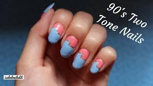 90 u0027s two tone nails youtube