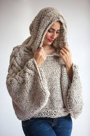 plus size knitting sweater capalet with hoodie size by afra