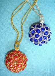 beaded ball necklace images Homemade bead ball for necklace pendant nbeads jpg