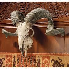 buy design toscano corsican ram skull and horns wall trophy online
