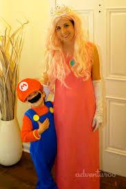 Peach Halloween Costume Mario Brothers Halloween