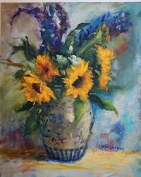 Vase Of Sunflowers Amy Whitehouse Paintings Sunflowers In Vase High Resolution