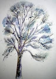 nice ash tree tattoo design