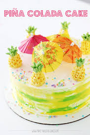 colada cake with buttercream pineapples