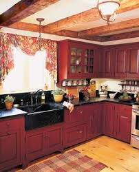 red cabinets in kitchen kitchen amazing rustic red painted kitchen cabinets painting