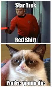 Star Trek Red Shirt Meme - star trek red shirt grumpy cat tells the truth cool digital
