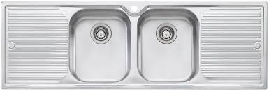 double drainer kitchen sink oliveri dz153 diaz double bowl double drainer topmount sink