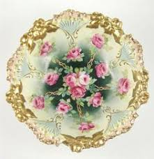 rs prussia bowl roses antique rs prussia 7 5 footed ferner bowl pink roses green tones