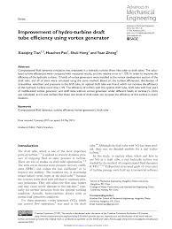 improvement of hydro turbine draft tube efficiency using vortex