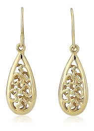 gold earrings uk 9ct gold filigree drop earrings by pineapple perfection look again
