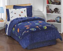 Cute Bedspreads Dream Factory Outer Space Satellites Boys Comforter Set Blue