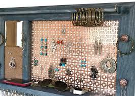 Jewelry Wall Hanger Jewelry Hanger Wooden Wall Hanging Jewelry Shelf Organizer With