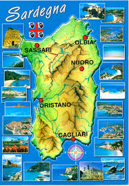 Sardinia Map Italian Driving Have Bag Will Travel