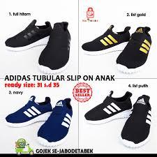 Jual Adidas Anak jual adidas tubular slip on anak hitam sepatu adidas anak adidas