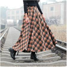 plaids en laine achetez en gros 50 s style jupes en ligne à des grossistes 50 s