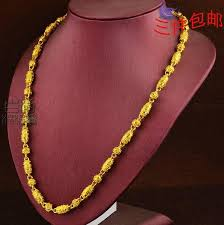 plated necklace chains images Ice men 39 s 999 gold plated necklace gold necklace genuine 18k gold jpg