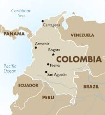 Colombia World Map by