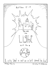 jesus is the light of the world coloring page free coloring
