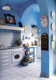 Cornflower Blue Bathroom by Rustic Fall Front Porch City Farmhouse Door Benjamin Moore