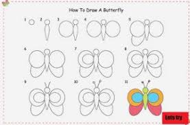 easy way to draw a butterfly for