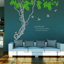 popular wall applique quotes buy cheap wall applique quotes lots ivy leaves tree branches birds wall art mural decor sticker wisteria wall quote decal poster