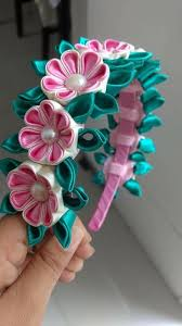 1143 best ribbon kanzashi and fabric flowers images on