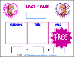 frozen teaching place value and number recognition printables