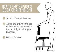 How Often Should You Stand Up From Your Desk Quick Tip Finding The Ideal Height For Your Task Chair