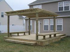 Decking Pergola Ideas by Attached Pergola Plans With Photos Home Exterior Design