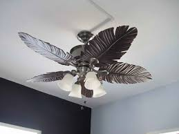 Ceiling Fan With Palm Leaf Blades by Ceiling Fan Ideas Stunning Ceiling Fans With Leaf Shaped Blades