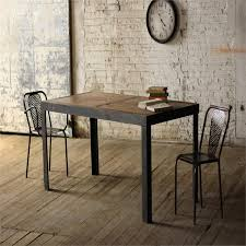American Furniture Dining Tables Retro Old Wrought Iron Wood Dining Table Home Leisure Living Room