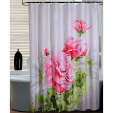pink peony floral luxury shower curtains