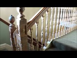 Staircase Banister Stair Spindle Repair Youtube
